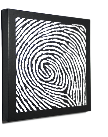 Fingerprint Art on Canvas. Make a bold statement with a beautiful original  DNA Print.